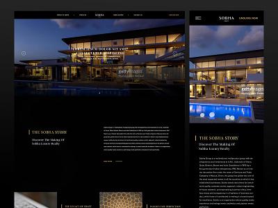Sobha Realty realestates responsive website design ui ux website