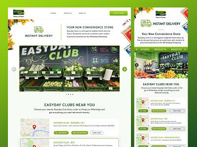 Easyday landing page concept grocery website website ui ux landing page