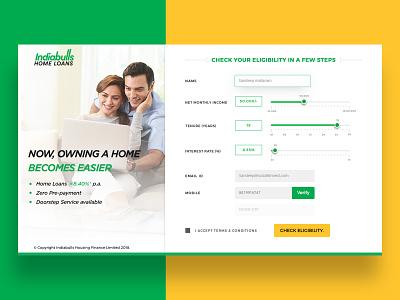 Indiabulls Eligibility Calculator responsive website ux landcruiser website calculator ui landing page concept landing page