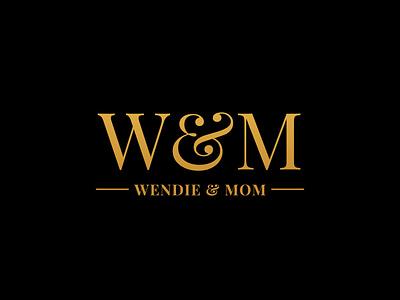 Wendie & Mom typologo typogaphy logo logo designing branding