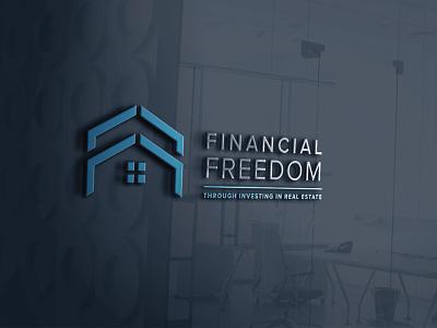 Financial Freedom real estate realestatelogo graphic symbol symbol logo branding logo designing
