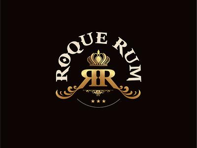 ROQUE RUM graphic symbol logo designing branding design branding logo rumlogo rumlogo