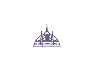 Budapest ♥ hungary vector line sunrise icon building parlement budapest