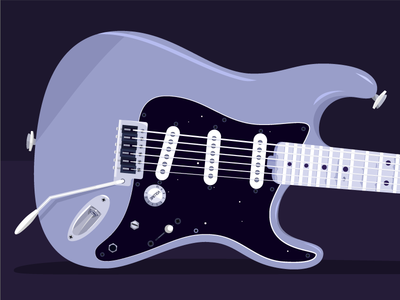 Stratocaster (1/3)  illustration guitar strat realistic vector squier fender stratocaster