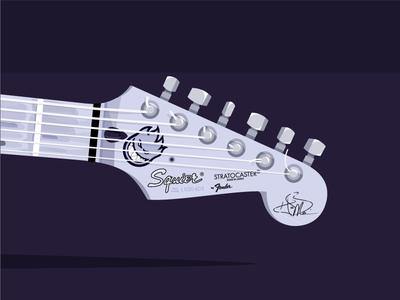 Stratocaster (2/3) vector stratocaster strat squier realistic illustration guitar fender