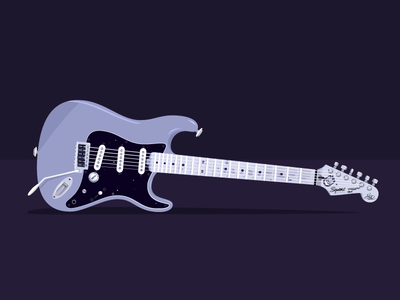 Stratocaster (3/3) vector stratocaster strat squier realistic illustration guitar fender