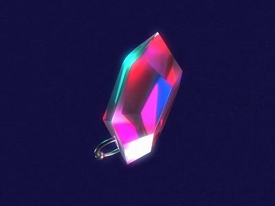 pierced crystal crystal c4d reflection texture motion animation cinema4d 3d