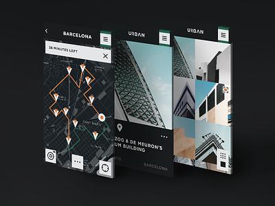 Urban. Modern Architecture App city ux ui ios explore map urban architecture modern app
