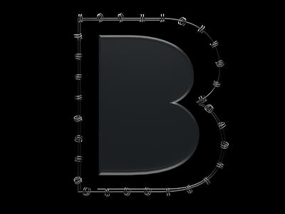 B model b letter letter 3d art 36 days of type design cinema4d 3d