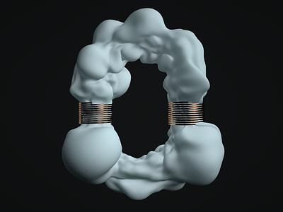 O vertex texture physics soft body o letter letter model 36 days of type 3d cinema4d