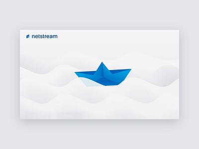 Netstream TV App gradients simple illustraion tv tvos tv app motion animation ui illustration