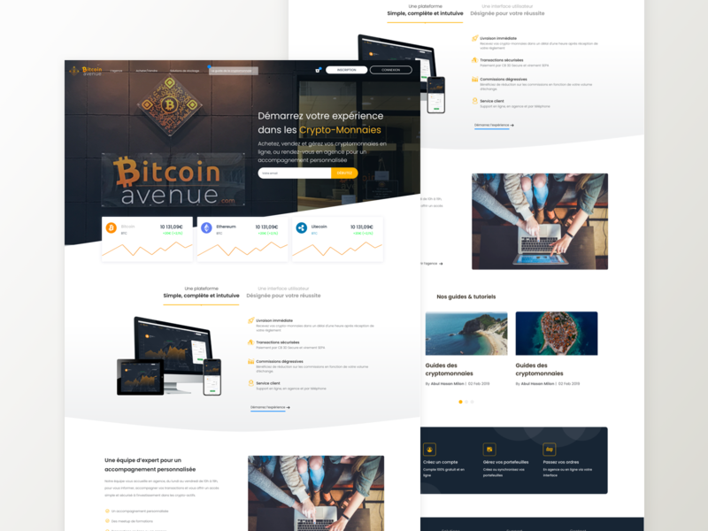 Bitcoin Avenue | Landing page