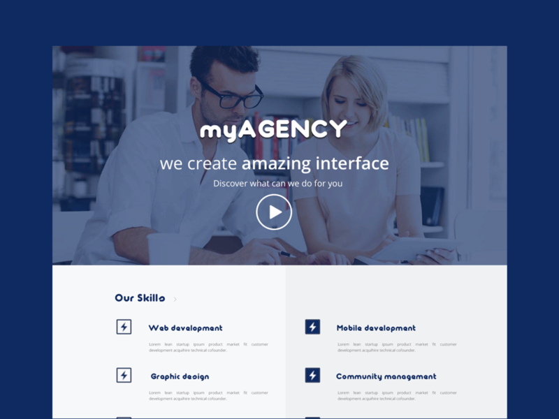 Agency Website Template by Cécile CHELIM on Dribbble