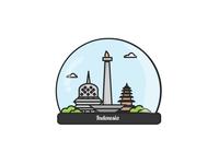 Indonesia Globe Crystal Ball