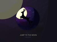 Lunadeer illustrations : Jum to the moon