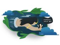 Rahwana Kidnaping Shinta Illustrations