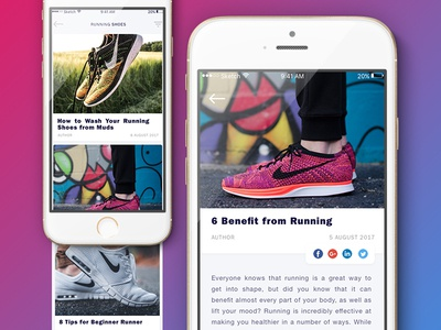 Running Article App Concept