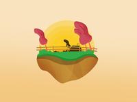 Floating Island Illustrations