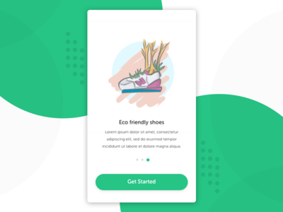 Eco Friendly Shoes Illustration for Onboarding