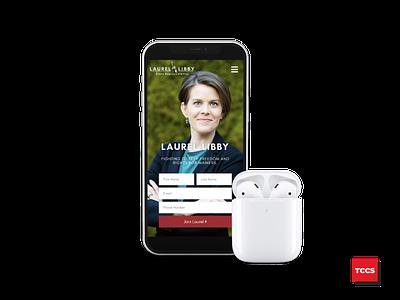 LaurelLibby.com- Mobile landingpage elementor republican