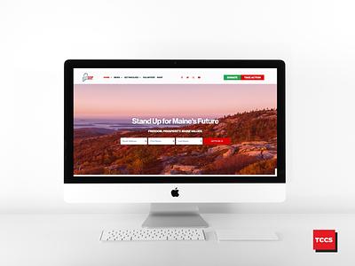 Maine GOP website design political campaign republican elementor