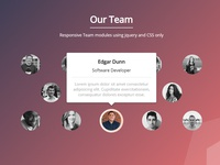 Our Team - UI/HTML/SCSS/jQuery