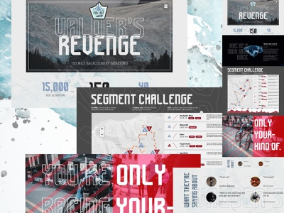 Valder's Revenge — Mocktober 2020 racing mountain biking web design ui mocktober