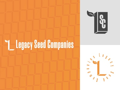 Holding company branding agriculture seed logo branding