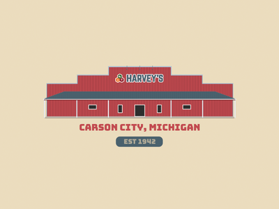 Harvey's bungee store illustration