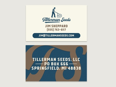 Business card for seed company branding business card