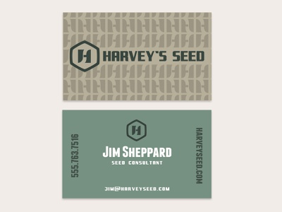 Business card for a seed company business cards branding business card