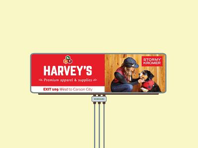 Billboard for local farm store illustration typography billboard