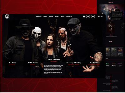 Website of a music group from Moscow branding ui webdesign web adobe photoshop tilda figma design