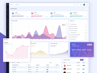 Quantum Dashboard UI design theme app widget ux interface dashboard admin ui user interface