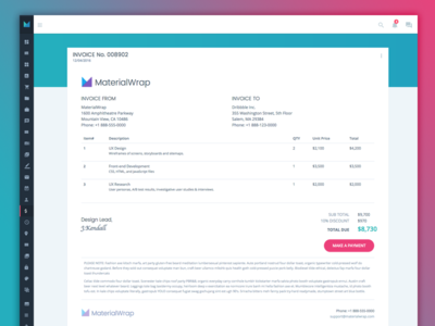 Invoice Web App By Jason Kendall Dribbble - Invoice web app