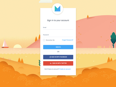Material Design Login V1 colors ui theme materialdesign signin login