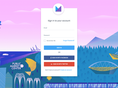 Material Design Login V2 widget card ui theme signin materialdesign login colors