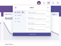 Mail dropdown menu widget