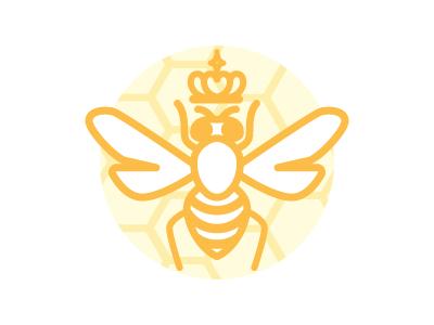 Queen B logo honey vector bee queen queenbee