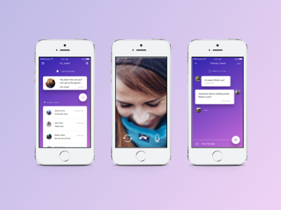 ICQ iOS App Redesign Concept by Sascha Yeryomin on Dribbble