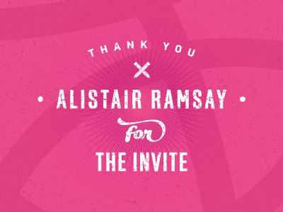 Thank you Alistair Ramsay design grapghicdesign