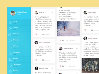 Social Deck socialnetwork interface ui graphicdesign application design app