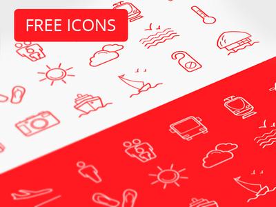 Tourism icon pack (free)