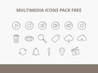 Icons multimedia
