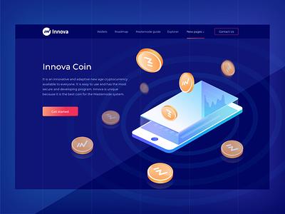 Cryptocurrency Innova blockchain ux ui illustration graphic design web design cryptocurrency