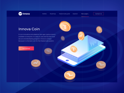 Cryptocurrency Innova blockchain ux ui illustration graphic design web design cryptocurrency