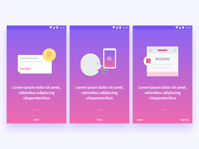 Onboarding illustration Cards