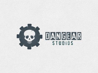 Dangear Studios - Logo Template danger logo skull logo evil studio gear cog industry factory evil gear ghost dark logo fear