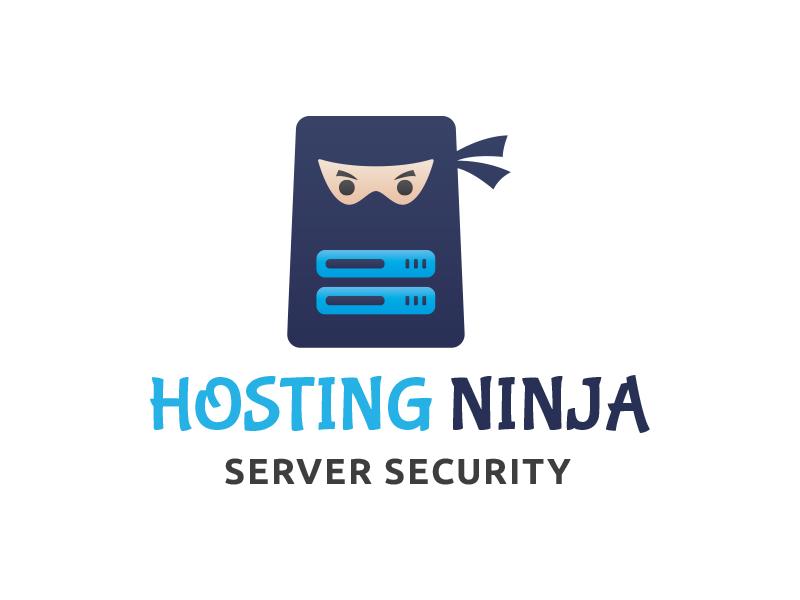 Ninja Hosting Logo server security branding warrior safety security date server hosting logo ninja logo