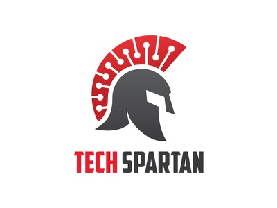 Tech Spartan Logo helmet warrior security digital technology spartan logo tech